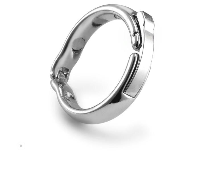 Магнитное металлическое эрекционное кольцо