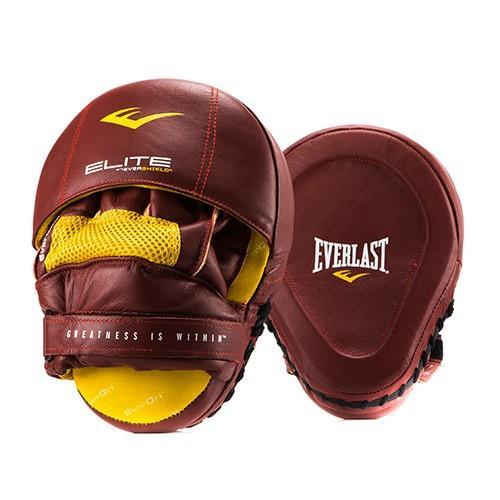 Лапа боксерская Everlast Pro Elite Leather Mantis крас.,  артикул P00000700 RD