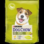 DOG CHOW Adult Small Breed Корм для взрослых собак мелких пород с курицей (2,5 кг)