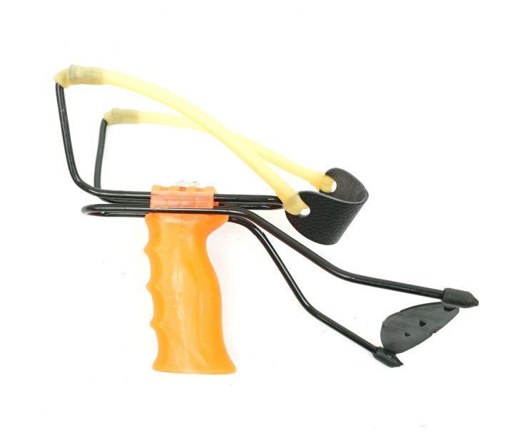 Рогатка MB большая регулируемая ручка с упором оранжевая