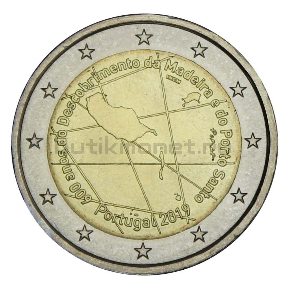 2 евро 2019 Португалия 600 лет открытию острова Мадейра