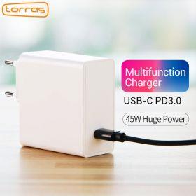 Устройство USB Type-C (PD) TORRAS 45W для быстрой зарядки смартфонов и ноутбуков