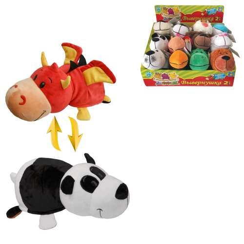 Мягкая игрушка Вывернушка 2 в 1  Дракон - Панда,  1 TOY 20  см