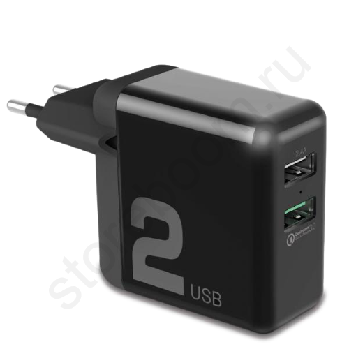 Адаптер 2.4А QC3.0 Rock Travel Charger