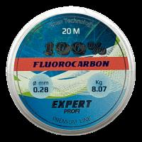 Леска рыболовная 0,20 мм 20 м флюорокарбон Expert Profi Fluorocarbon 100%