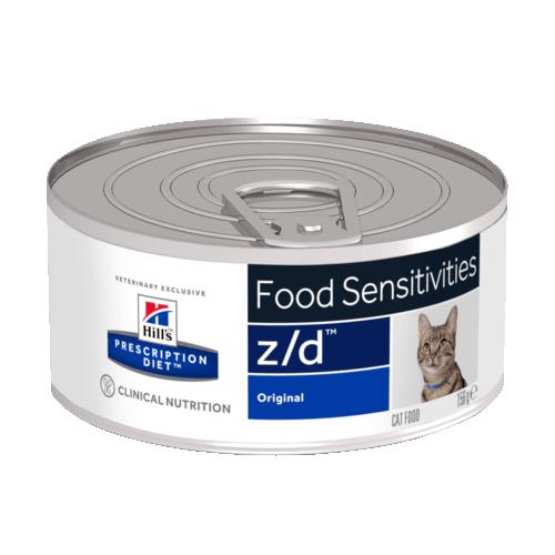 """Консервы Hill's prescription Diet z/d Feline для кошек """"Лечениe острых пищевых аллергий"""" 156 гр"""