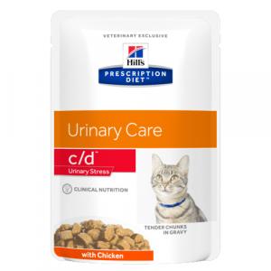 "Консервы Hill's prescription Diet c/d Feline Urinary Stress with Chicken паучи C/D ""Профилактика МКБ при стрессе"" с курицей 85 гр"
