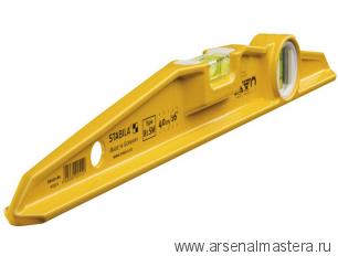 Уровень строительный литой магнитный STABILA тип 81SM 40см 1 вертикальный, 1 горизонтальный арт.02512