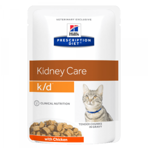 Консервы Hill's prescription Diet K/D Feline with Chicken паучи K/D для кошек при лечении почек с курицей 85 гр