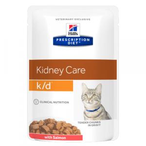 Консервы Hill's prescription Diet K/D Feline with Salmon паучи K/D для кошек при лечении почек с лососем 85 гр