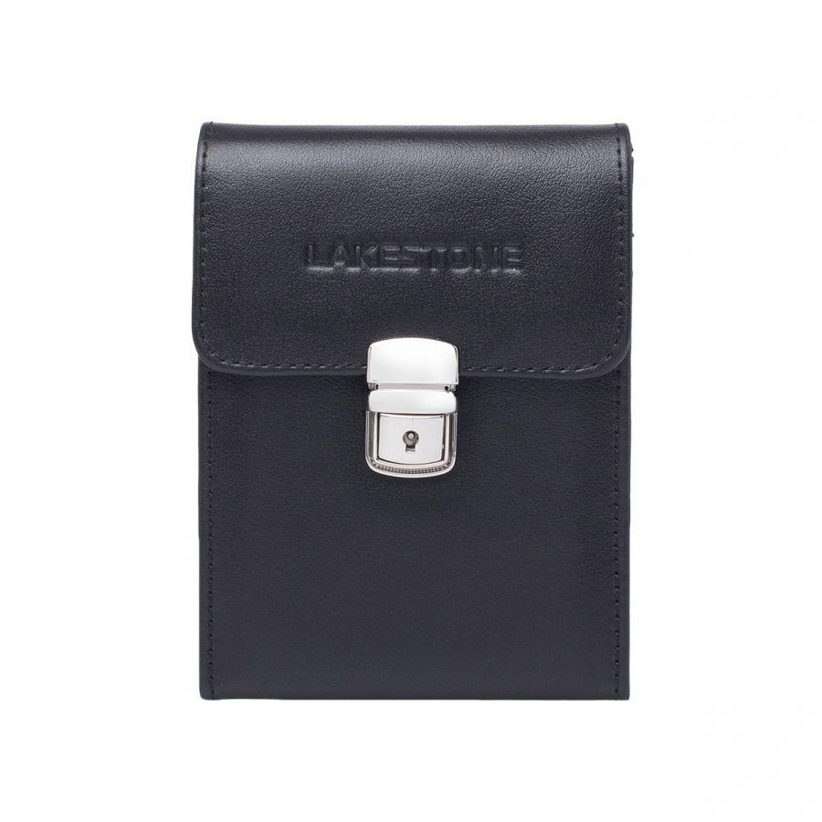 Небольшая кожаная сумка для документов Lakestone Tormarton Black