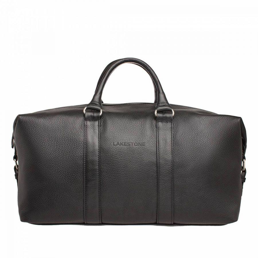 Кожаная дорожно-спортивная сумка Lakestone Pinecroft Black