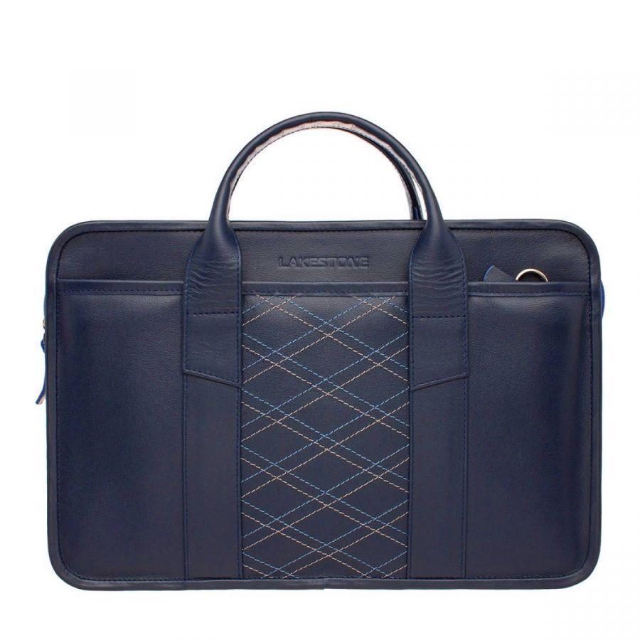 Деловая сумка Lakestone Marion Dark Blue Rhombus