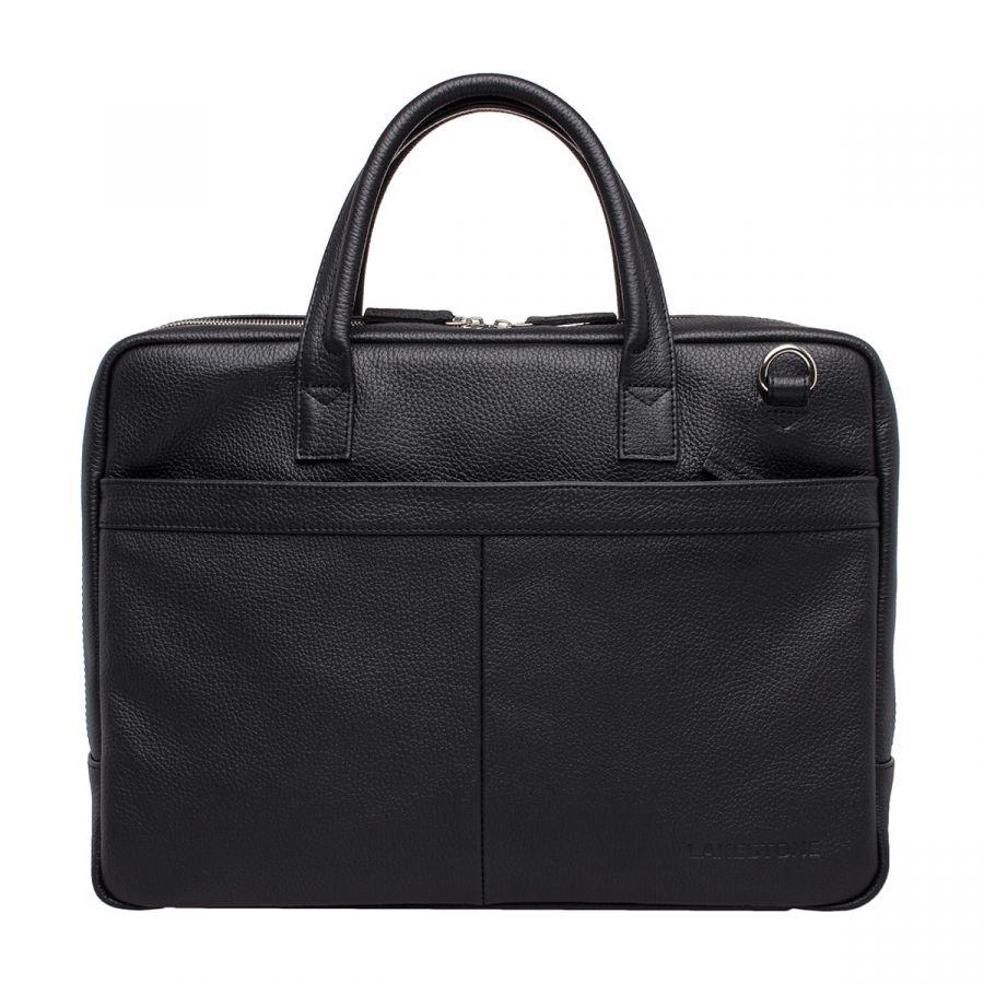 Кожаная деловая сумка Lakestone Carter Black