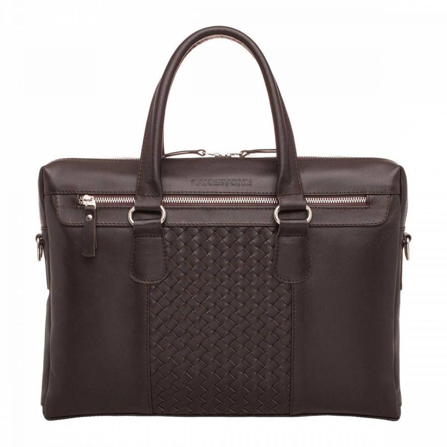 Деловая сумка Lakestone Bramley Brown из кожи
