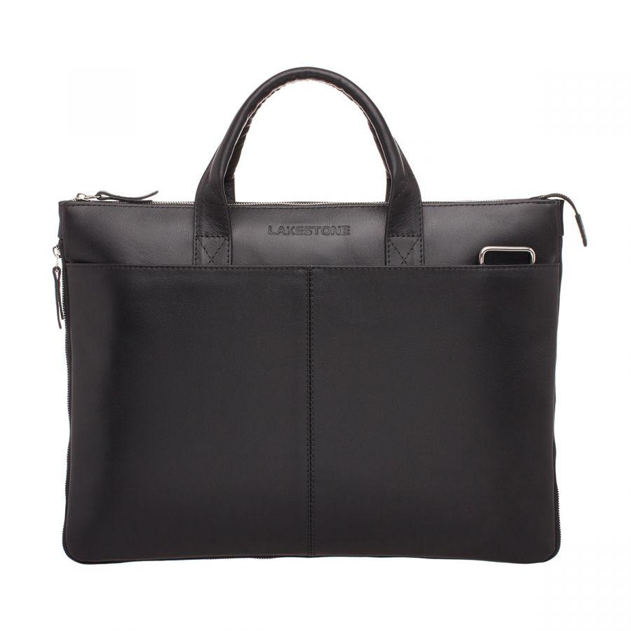 Кожаная деловая сумка Lakestone Bolton Black