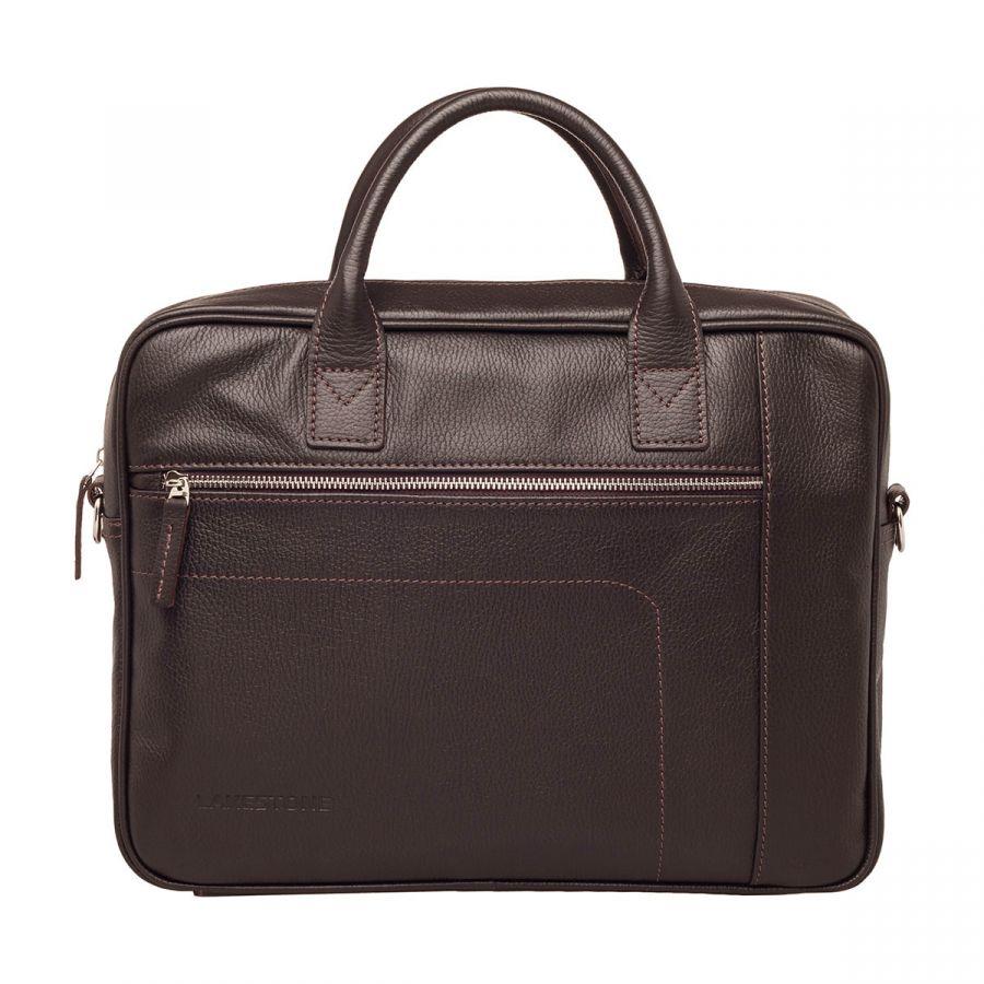 Деловая сумка Lakestone Baxter Brown из кожи