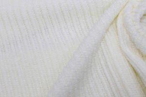"Трикотаж велюр ""вязанка"" VT-10241/C#1 молочный"