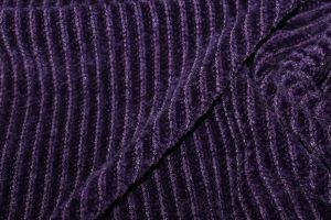 """Трикотаж велюр """"вязанка"""" VT-10241/C#9 фиолетовый"""