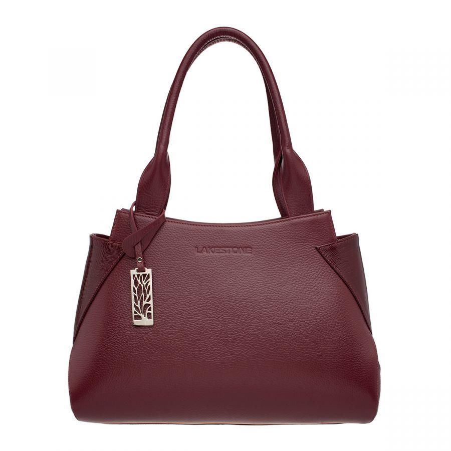 Кожаная Женская сумка Lakestone Osprey Burgundy