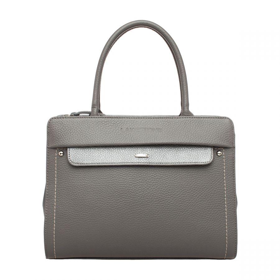 Женская кожаная сумка Lakestone Darnley Grey