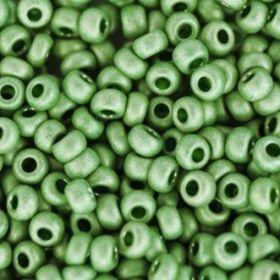 Бисер чешский 18556 зеленый матовый металлик Preciosa 1 сорт