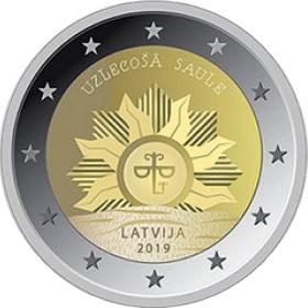 Восход солнца 2 евро Латвия 2019
