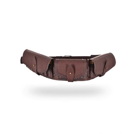 Патронташ К-12  20патронов (закрытый) Темно-коричневый