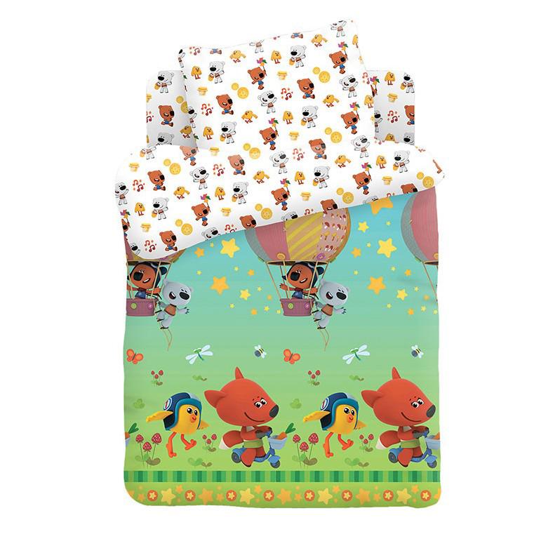 """Детское постельное бельё """"Воздушный шар"""", рис.16151-16152 (Ми-ми-мишки)"""