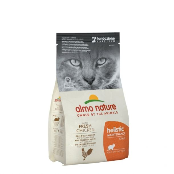 Корм сухой Almo nature  для взрослых кошек с курицей и рисом 2кг.