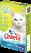 """Омега Neo+ Мультивитаминное лакомство для кошек """"Блестящая шерсть"""" (90 табл.)"""