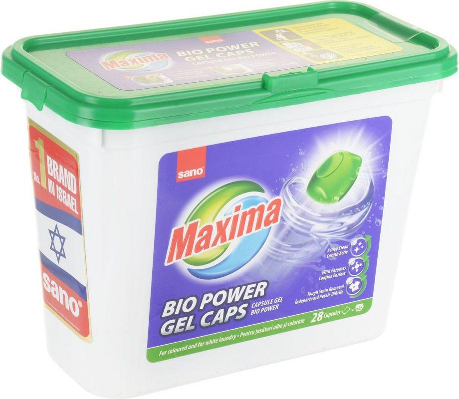 SANO Maxima Bio Power Gel Caps гель для стирки с добавками в капсулах 28 шт