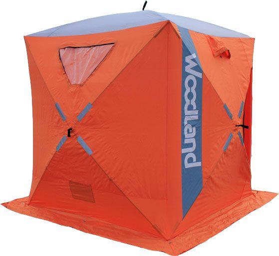 Палатка   зимняя WoodLand ICE FISH 2 NEW Оранжевая 165*165*185