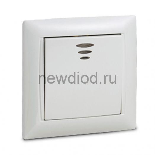 Выключатель 1кл с подсветкой VALENZO белый 6121 IN HOME