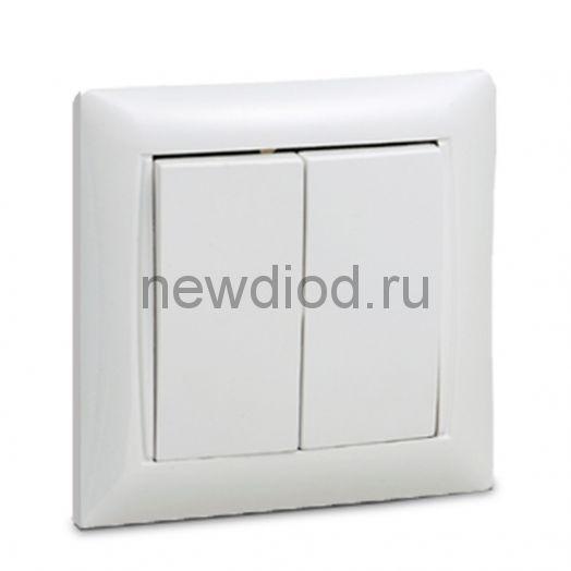 Выключатель 2кл VALENZO белый 6023 IN HOME