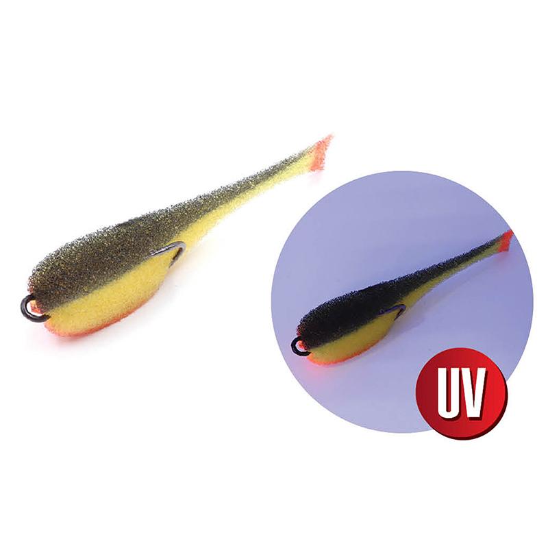Поролоновая рыбка цвет 19 UV, уп.(5шт.) с двойником