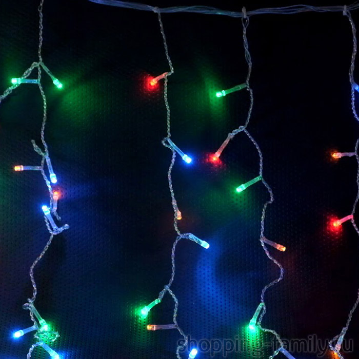 Гирлянда Бахрома, 500 LED , 8*0.7 м. Цвет Разноцветный
