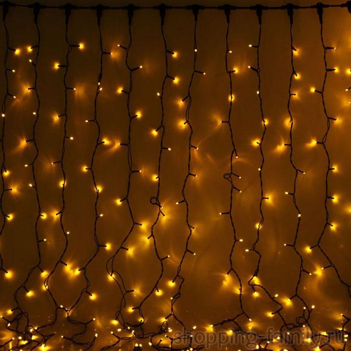 Светодиодная гирлянда Шторка 240 LED , 2*2 м. Цвет Желтый