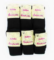 Детские махровые черные колготки Jujube R120