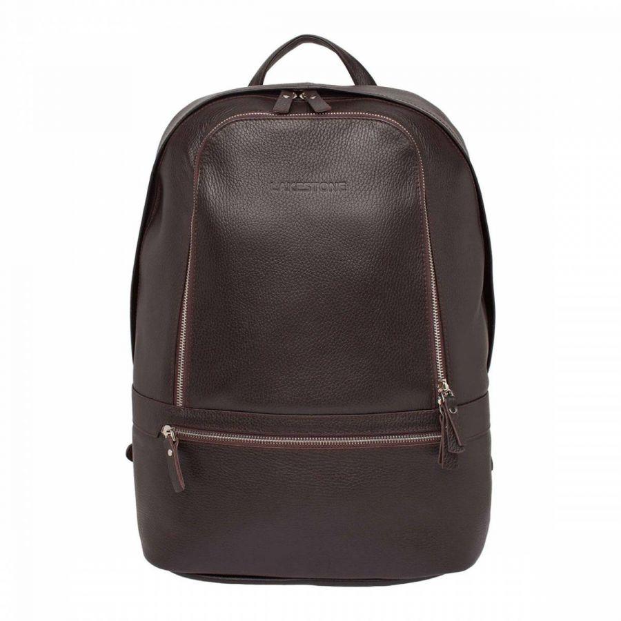 Кожаный мужской рюкзак Lakestone Timber Brown