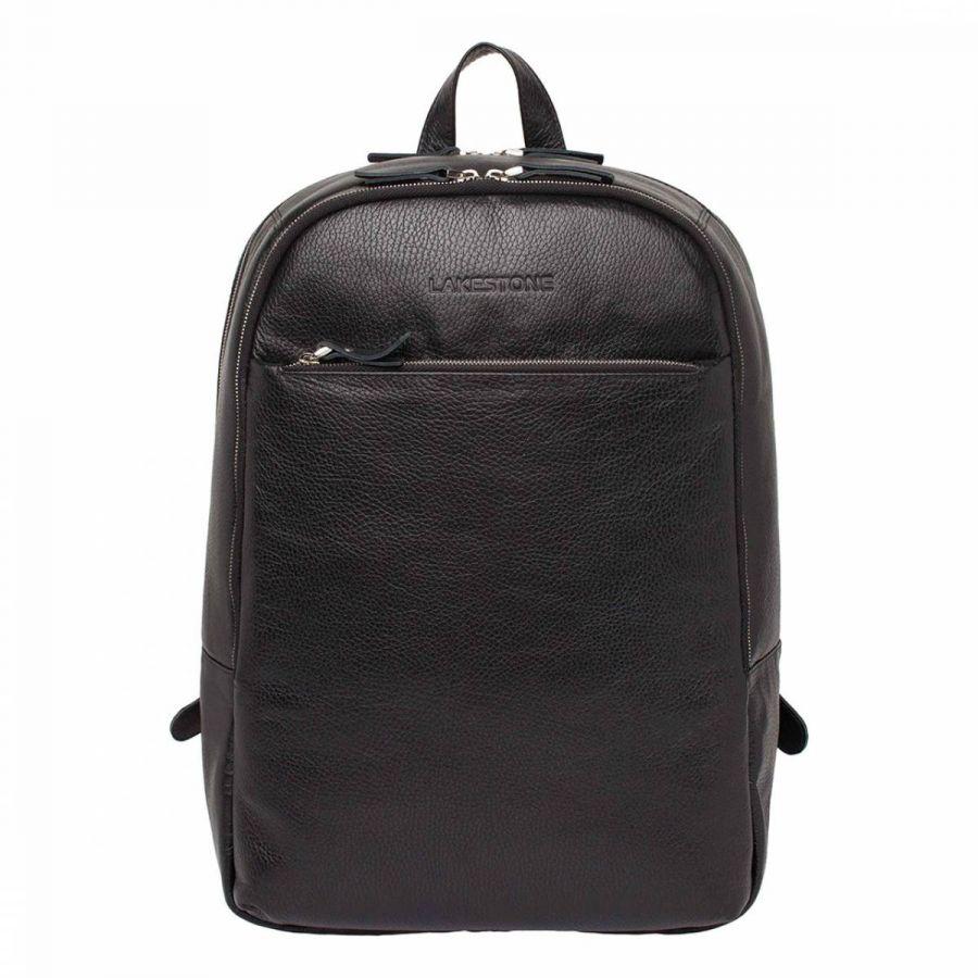 Кожаный мужской рюкзак Lakestone Faber Black