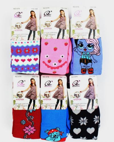 Детские махровые колготки для девочки №676