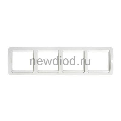 Рамка 4ая CLASSICO белая 2304H IN HOME