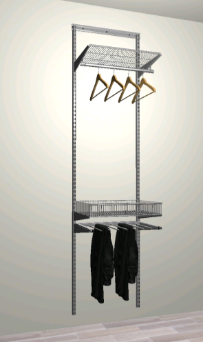 Комплект #4 - Полка, штанга, полка-корзина, брючница