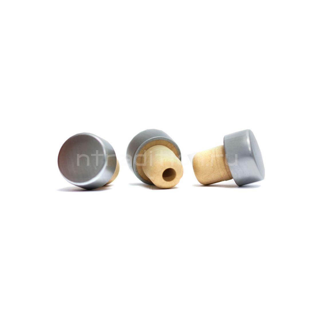 Пробка Камю алюминиевая, 19,5 мм, серебро, 10 шт.