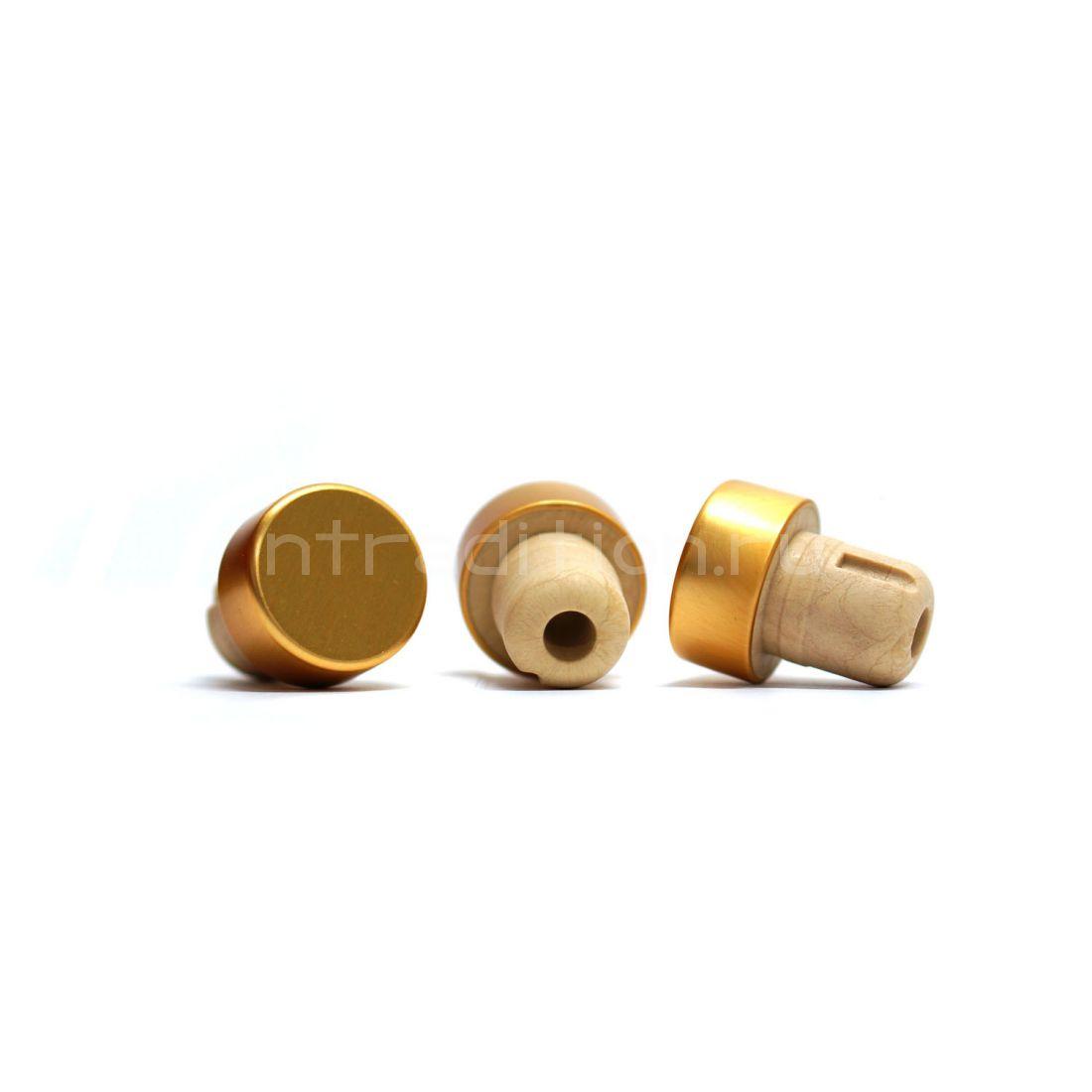 Пробка Камю алюминиевая, 19,5 мм, золото, 10 шт.
