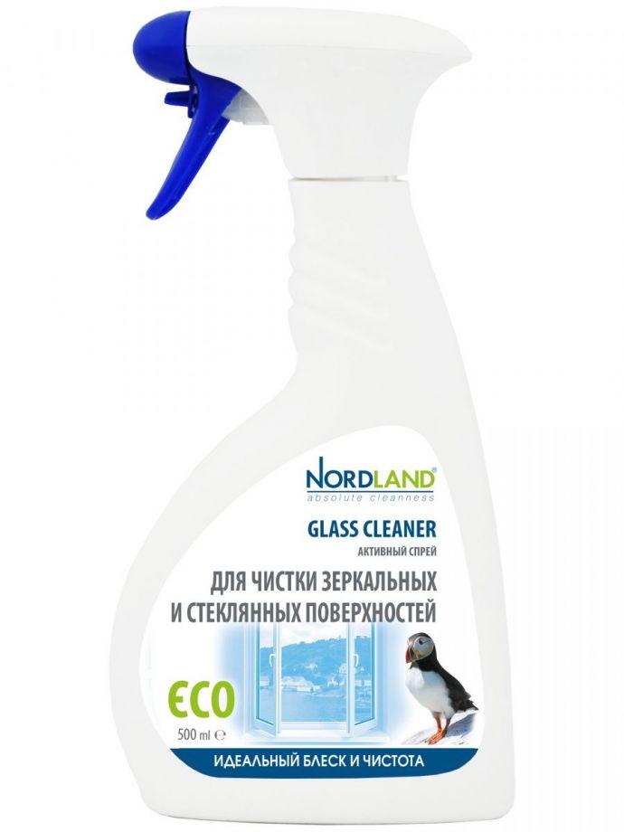 Nordland Активный спрей для чистки зеркальных и стеклянных поверхностей, 500 мл