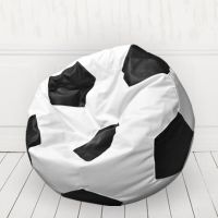 Кресло мяч иск.кожа Белый с черным