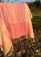 Большой разноцветный индийский палантин из хлопка. Купить в Москве