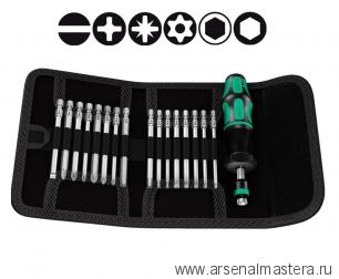 Набор Kraftform Kompakt WERA Torque 1,2-3,0 Нм (насадки 89 мм) 17 предметов в сумке-скрутке 059293